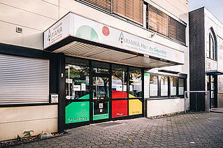 Bild Zahnarztpraxis Dr. Ebrahimi Hamburg Wandsbek Eingang